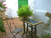 Shady terrace, ideal for the Spanish summers Self catering rural accommodation, Spain