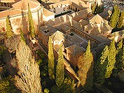 Alhambra of Granada, aerial view Granada and Alhambra, Spain